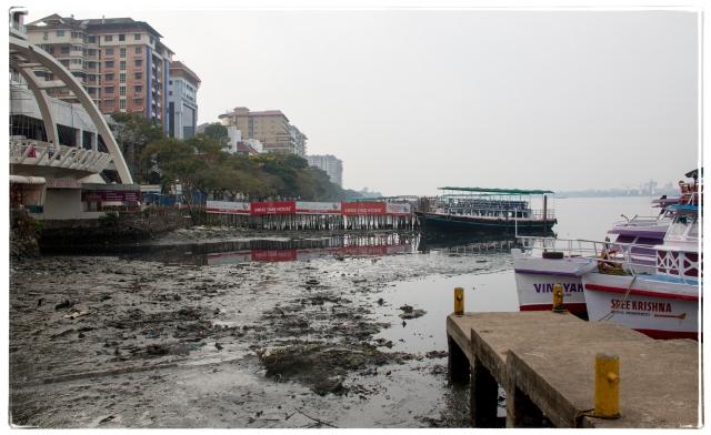 Kochi seaside with sludge