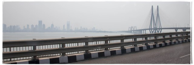 Mumbai skyline in the fog